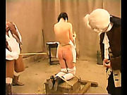 Two sluts got caning for using a dildo
