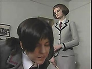 Schoolgirl whore got severe caning to tears