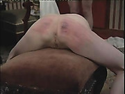 Skinny ass got red marks after caning