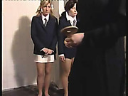 Harsh spanking and humiliation for 4 schoolgirls