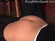 Spanked black-and-blue ass of young sweetie