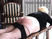 Master spanked plump ass of his slave girl