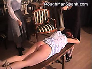 Tied and spanked submissive redhead slut
