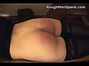 Lecherous babe likes having ass spanked rough