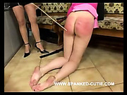 FF caning for sexy young bitch