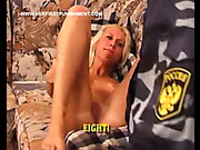 Russian whore had spanking punishment from a policeman