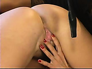 Mistress gives pain and pleasure to her slave