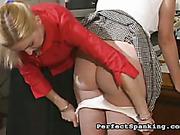 Cruel mistress tortures several young girls