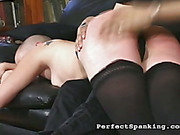 Lady boss spanked her bad female employee