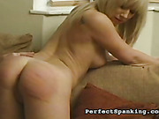Bent over and caned