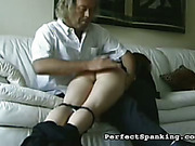 Spanking of young butt from the emloyer