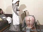 Little nuns spank each other like hell