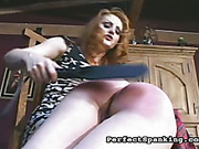 Brutal spanking for woman
