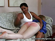 Careless girl was spanked for bad work