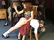 OTK spanking for young slut