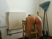 Strict riding coach spanked girls