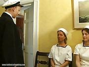 Fat sailor slut got a cane