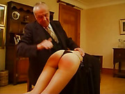 Elders spanked bad girl