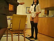 Mother spanked two mean schoolgirls