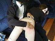 M/F spanking scene
