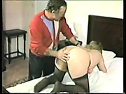 Random stranger spanked a bad girl
