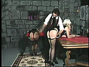 Terrible ass whipping for bad maids