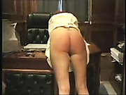 Office hottie spanked over the desk