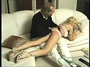 Very bad blonde was punished