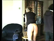 Aggressive dude spanked his girlfriend