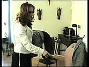 Hot FF spanking scene
