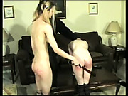 Strict father paddled his slutty daughter