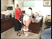 Harsh spanking in the office