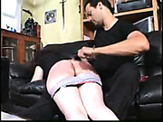 Shameful spanking and humiliating for bigass girl