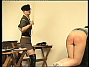 Two young sluts got caned and spanked