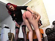 Two misbehaving babes punished by doctor