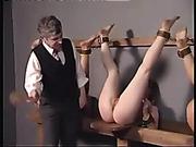 Triple humiliating and spanking punishment