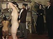 Fully nude girl got ass caned harsh