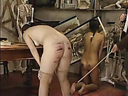Fully nude girl got ass caned harsh