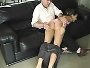 OTK spanked cutie started crying