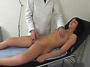 Kinky vaginal and anal examination of girl