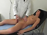 Kinky vaginal and anal examination of girl
