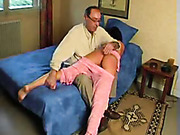 Teen was OTK spanked by her Dad