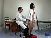 Young miss is spanked in the medical room
