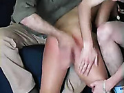Young round ass was spanked OTK severely