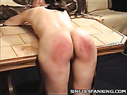 Good dose of ass spanking for bitch