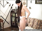Lovely MILF wants ass spanked like hell