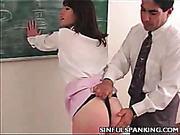 Teen bitch punished by professor for provocative behaviour