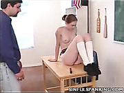 Professor spanked young student for masturbating