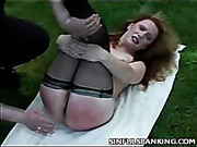 Husband spanked his wife for partying