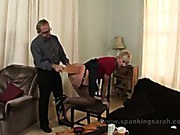 Spanking and paddling from a customer after blowjob
